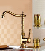 Gold Bathroom-sink faucet-Gold-Kitchen-Sink-Faucet