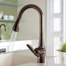 oil rubbed bronze kitchen sink faucet
